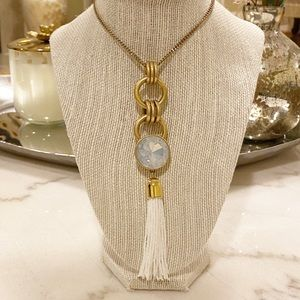 J.Crew Medallion Tassel Pendent necklace